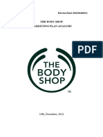 The Body Shop Marketing Plan Analysis