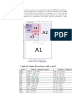 The Dimensions of the a Series Paper Sizes