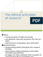 Ethical Principles of Research