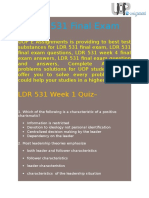 531/LDR Final Exam - Questions and Answers | UOP E Assignments