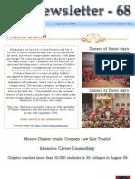 68 ICSI Mysore eNewsletter September 2009