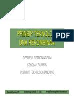 Prinsip Teknologi Dna Rekombinan 2010_2