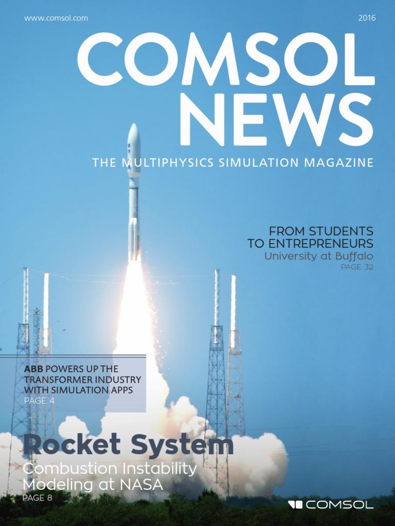 Comsol Mag | Fluid Dynamics | Rocket Engine