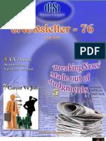 76 ICSI Mysore eNewsletter May 2010