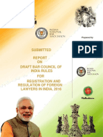INBA submitted a report on BCI rules to Department of Law, Justice & Legislative Affairs for registration & regulation of foreign lawyers in India