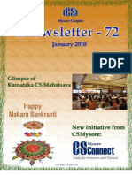 72 ICSI Mysore eNewsletter January 2010