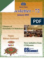 72 ICSI Mysore eNewsletter January 2010