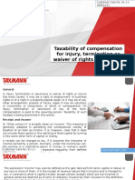Taxability of Compensation for Injury Termination or Waiver of Rights and Source