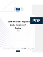 Thematic Report on Social Investment - Turkey 2015