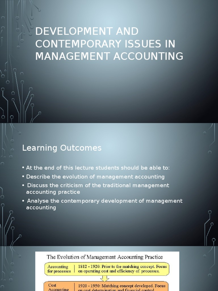 Contemporary Issues in Accounting - ANU