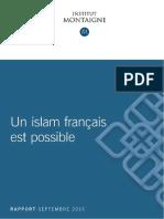 Institut Montaigne - Un Islam Francais Est Possible