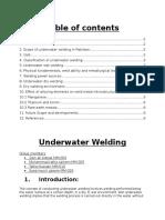 Report of Underwater Welding