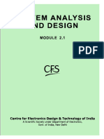 System Analysis and Design by Cfs