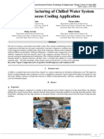 Design, Manufacturing of Chilled Water System for Process Cooling Application