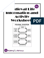 Medieval Life Information and activity worksheets