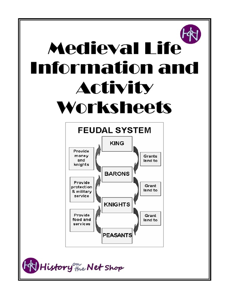 Medieval Life Information and activity worksheets | Serfdom | Courtroom