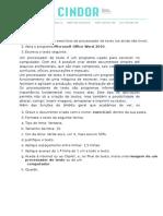 Fichas de Trabalho Técnicas de Digitação