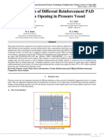 Stress Analysis of Different Reinforcement Pad for Nozzle Opening in Pressure Vessel