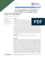 Virtual Screening and Evaluation of Ketol-Acid Reducto-Isomerase (KARI) as a Putative Drug Target for Aspergillosis.