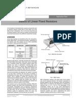 Basics of Linear Fixed Resistors