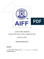 AIFF U-16 Youth League Regulations 2016-17