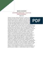 René Guénon_ Los Principios Del Cálculo Infinitesimal. Prefacio