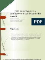Program de Prevenire Și Combatere a Conflictelor Din