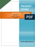 Projekt fizike :Aparatet Optike !!!!