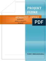 Projekt fizike :Aparatet Optike !!!!