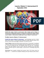 Prediksi Bola America Mineiro vs Internacional 20 September 2016