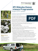 2016 Manuka Honey Fact Sheet