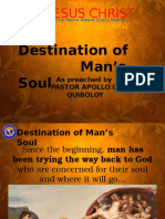 Lesson 1 - Destination of Man's Soul