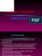 Emergency Procedures on ships