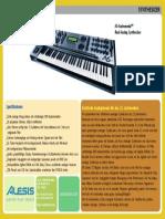 Alesis Andromeda a6 Brochure