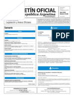 Boletín Oficial de la República Argentina, Número 33.464. 19 de septiembre de 2016