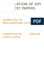 Compilation of Sipi and Test Papers