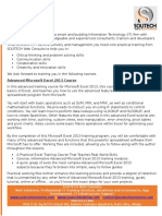 Advanced Excel Training Highlights