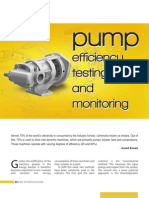Pump Efficiency Testing and Monitoring using thermodynamic method