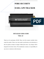 103-RS Gps Tracker User Manual