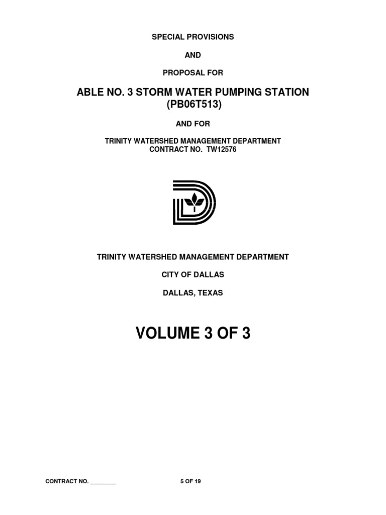 City of Dallas pdf | Pipe (Fluid Conveyance) | Elevator