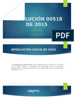 Resolución 00518 de 2015