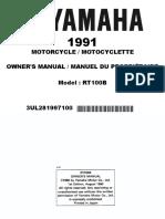 Yamaha Rt100b Manual