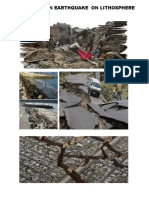 Effects of an Earthquake on Lithosphere