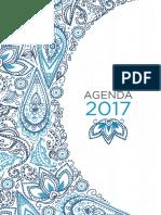 Agenda Semanal Celeste 2017 Tela.tinta.papel 4
