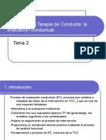 TEMA 2 El Proceso en Terapia de Conducta La Evaluación Conductual