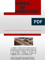 hydraulic and non hydraulic cement