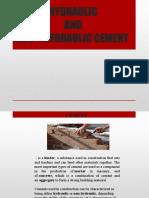 hydraulic and non hydraulic cement