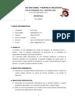 Sylabus de Estatica 2016-0