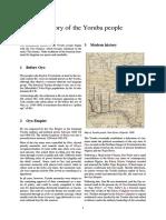 History of the Yoruba People