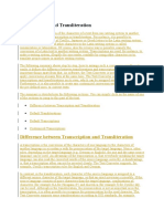 Transcription and Transliteration